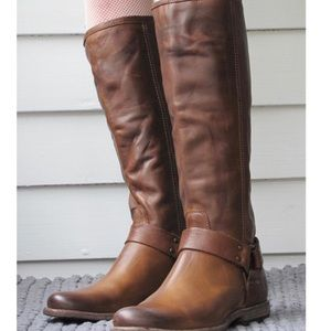 Frye | Phillip Harness Tall Distressed Moto Boots